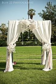 Wedding Arches Inside Creme Floral U0026 Crystal Bead Swag Themed Wedding Ceremony Arch
