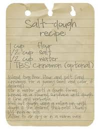 salt dough ornament recipe dough