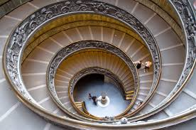 double spiral staircase in the vatican museums italy details