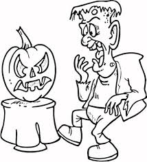 scared frankenstein coloring free printable coloring pages