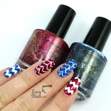 zig zag madness nail art with renaissance cosmetics and stick me