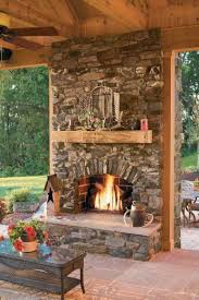 10 fireplace ideas beams stone and porch