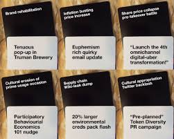 words against humanity cards marketing cards against humanity strategy vs tactics wishful