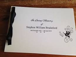 funeral guest book personalised guest book memory book bereavement condolence