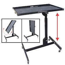 adjustable folding work table 200lb capacity mobile bench heavy