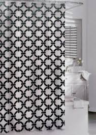 And Black Fabric For Curtains Black Fabric Shower Curtain Foter
