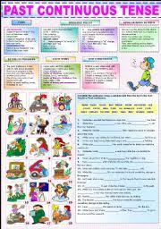 english teaching worksheets past continuous progressive