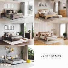 free 3d models bed johny mrazko