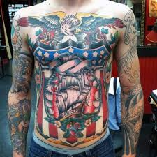 old guys patriotic sailor jerry chest tattoos tattoos