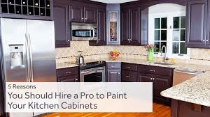 is it worth painting your kitchen cabinets 5 reasons you should hire a pro to paint your kitchen