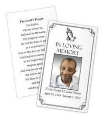 funeral memorial cards memorial cards for funeral template free template business