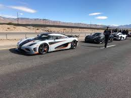 koenigsegg factory swedish supercar sinks speed records on nevada highway near