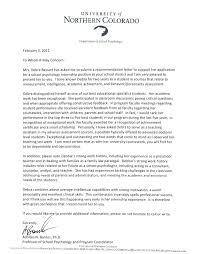 letter of recommendation sample graduate psychology