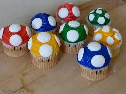 super mario mushroom cupcakes recipe and tutorial