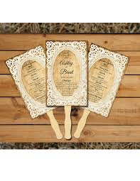 personalized wedding fans rustic lace personalized wedding program fans wedding fan programs
