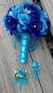 Royal Blue Boutonniere Blue White Bouquet Boutonniere Corsage Rose Wedding Flowers Photos