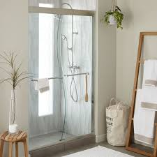 48 Shower Doors 48 S Cut Sliding Shower Door Bathroom