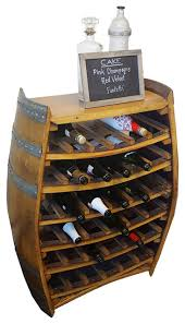 whole barrel wine rack with counter top holds up to 36 bottles