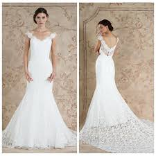new style 2016 full lace wedding dresses sareh nouri white cheap