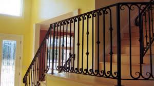Iron Handrail For Stairs Interior Railings Ma Ri Ornamental Wrought Iron Rails Spiral