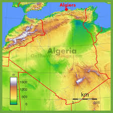 France Physical Map by Physical Map Of Algeria