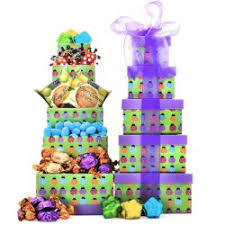 Gift Towers Gift Towers Happy Birthday Tower Cookies And Gourmet Tower