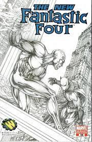 fantastic four 546 michael turner wizardworld philadelphia sketch