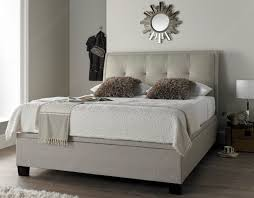 4ft Ottoman Beds Uk Accent Upholstered Bed In Oatmeal With Ottoman Storage 4ft6
