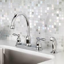moen caldwell kitchen faucet shop moen caldwell chrome 2 handle deck mount high arc kitchen