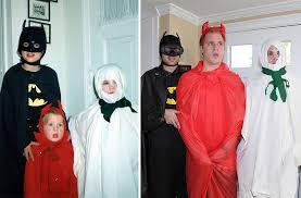three brothers recreate their weirdest childhood photos as a gift