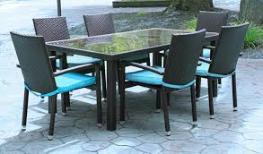 7 piece resin wicker outdoor furniture patio dining set