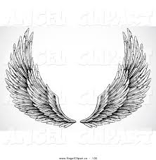 angel wings black and white clipart clip art of wings clipart