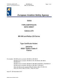 easa tcds a 379 ms 890 and rallye 235 series 01 26112010 1