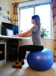 Balance Ball Chair With Arms Work Out While You Work Workout Exercises And Stability Ball