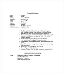 Caregiver Resume Samples by Sample Resume Template 53 Download In Psd Pdf Word
