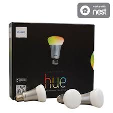 best buy light bulbs philips hue a19 smart led light bulb starter kit 426353 multi