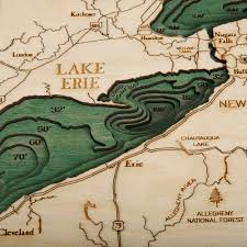 The Great Lakes Map Great Lakes Wood Map Large 3d Nautical Topographic Chart Framed
