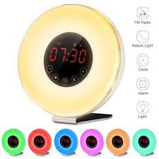 Wake Up Light Alarm Clock Aliexpress Com Buy Wake Up Light Alarm Clock Fm Radio Sunrise