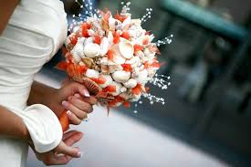 wedding bouquets with seashells and ivory seashell wedding bouquet