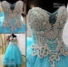 coloured dress discount new arrival strapless luxury crystals blue custom online