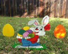 Wood Yard Decorations For Easter by Easter Bunny Artist Yard Art Woodworking Pattern Yard Ornaments