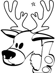 reindeer coloring pages reindeer head coloringstar