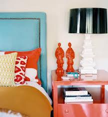 turquoise and orange interior design color palettes