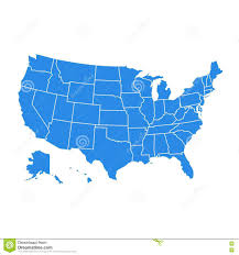 Untied States Of America Map by United States Of America Administrative Map Stock Illustration