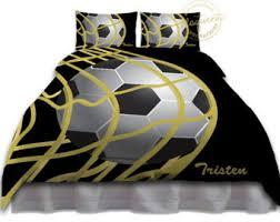 Soccer Comforter Soccer Bedding Set Etsy
