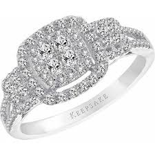 sterling silver engagement rings walmart keepsake ss 1 2 cttw ring walmart