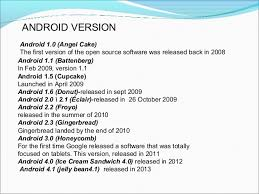 android versions wiki android ppt