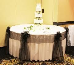 Chicago Cake Table Decoration wedding black blue brown cake