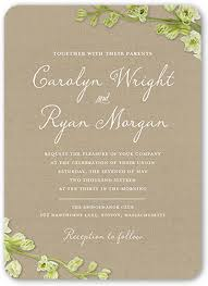 wedding invitations shutterfly budding 5x7 wedding invitations by yours truly shutterfly