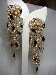 Designer Chandelier Earrings Vintage Costume Earrings Signed Sorrelli Rhinestone Chandelier